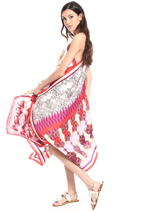Oversized fancy print dress Intrend