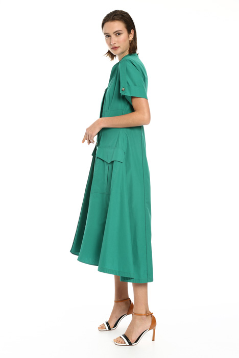 Belted dress in pure cotton Intrend