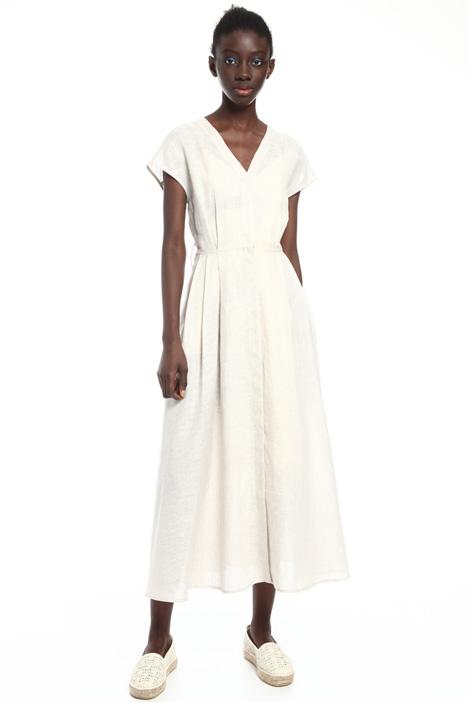 Light linen canvas dress Intrend