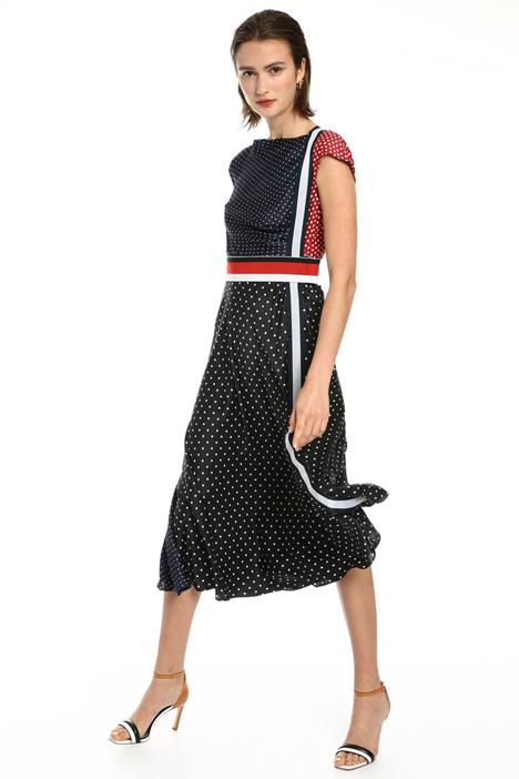 Soft neck printed dress Intrend