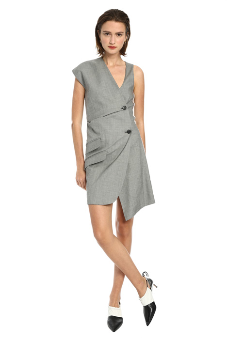 Two-button asymmetrical dress Intrend