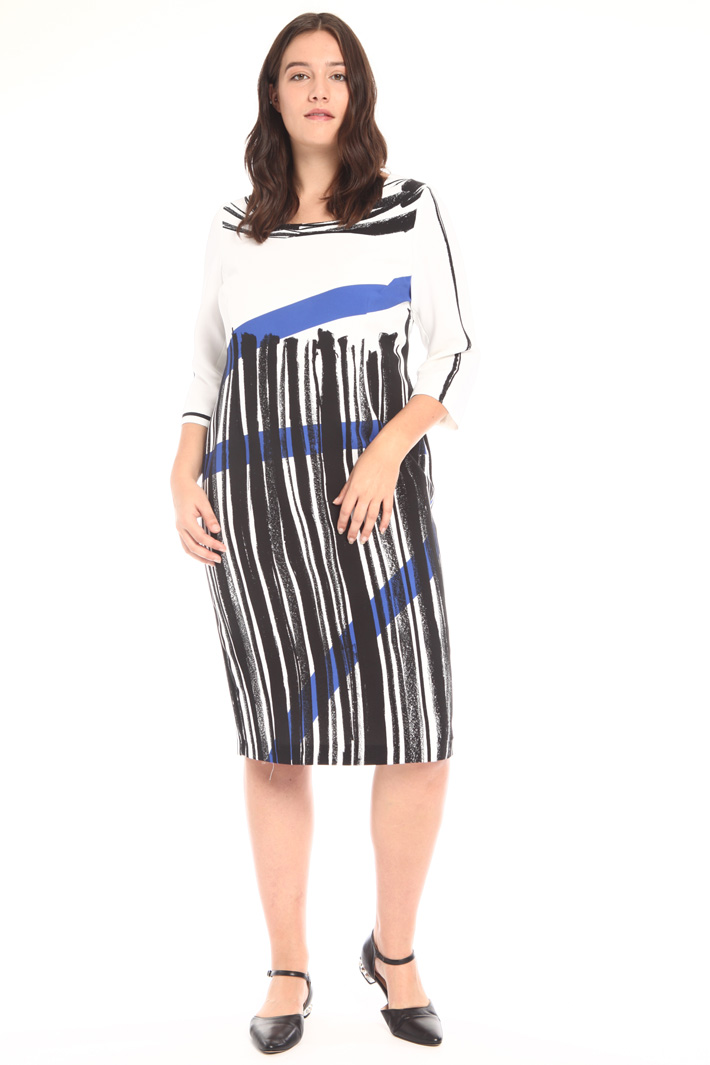Printed cady dress Intrend
