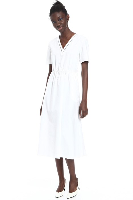 V-neck cotton dress Intrend