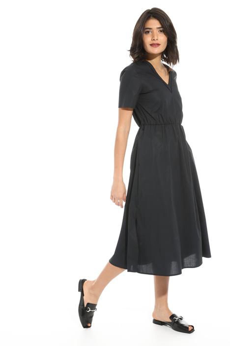 V-neck cotton dress Intrend