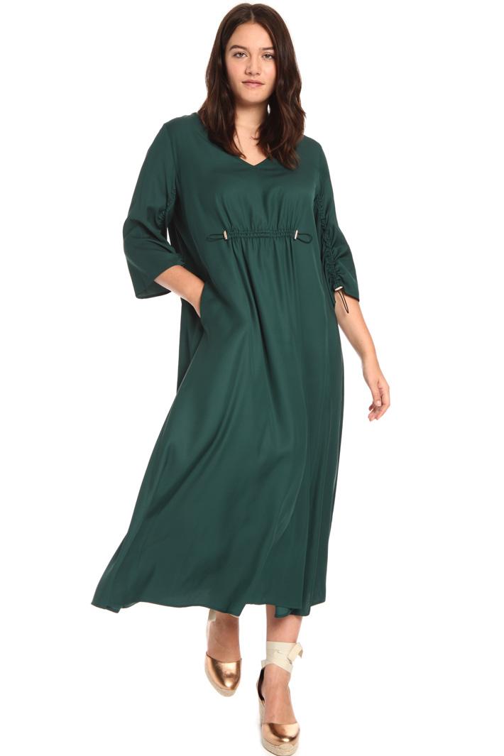Long fluid viscose dress Intrend
