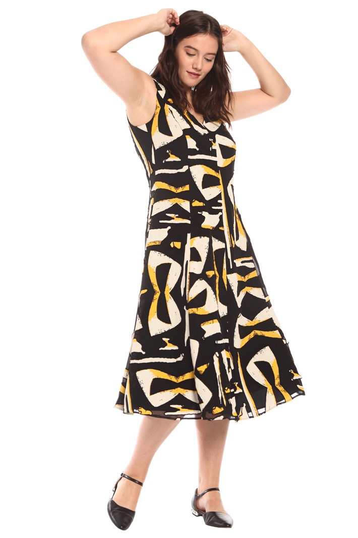 Printed devoré dress Intrend