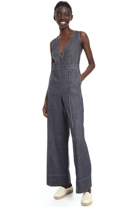 Sleeveless linen jumpsuit Intrend