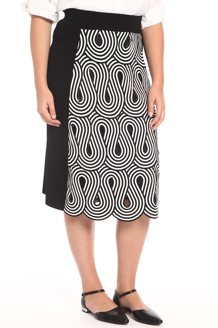 Flared knit skirt Intrend