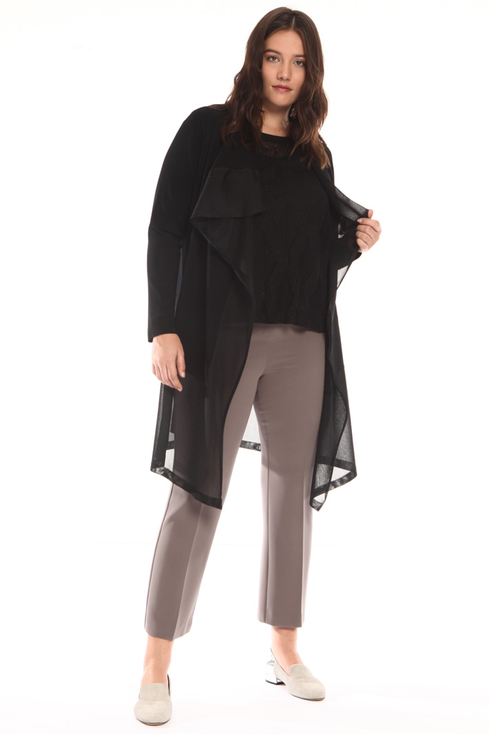 Cardigan with sheer inserts Intrend