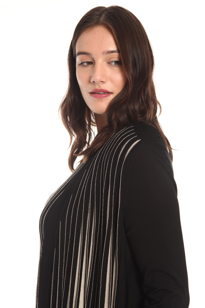 Pleated knit cardigan Intrend