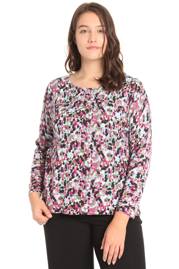 Cotton and viscose sweater Intrend