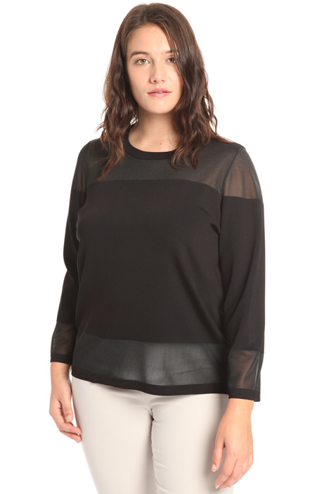 Shiny viscose sweater Intrend