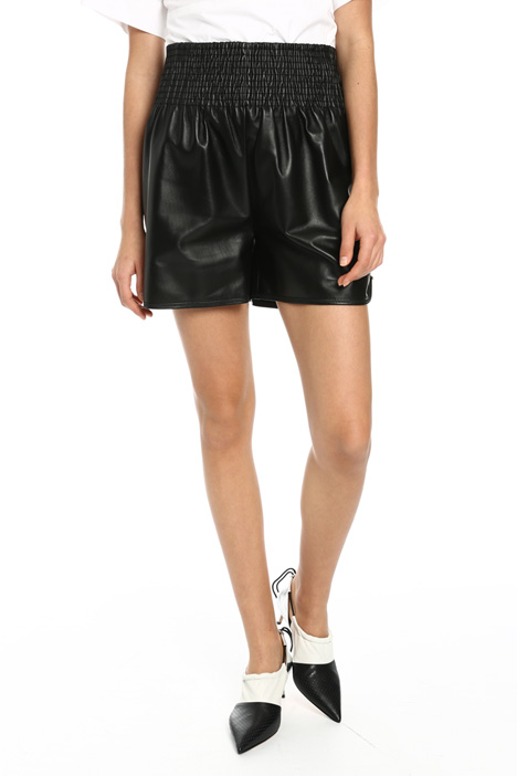 Shorts in pura pelle Intrend