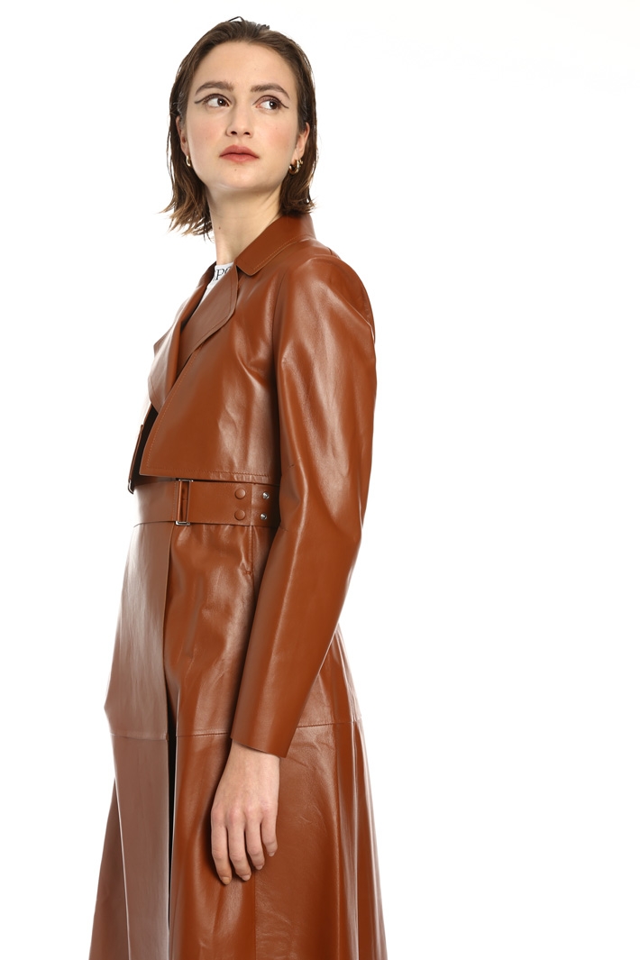 Genuine leather trench Intrend
