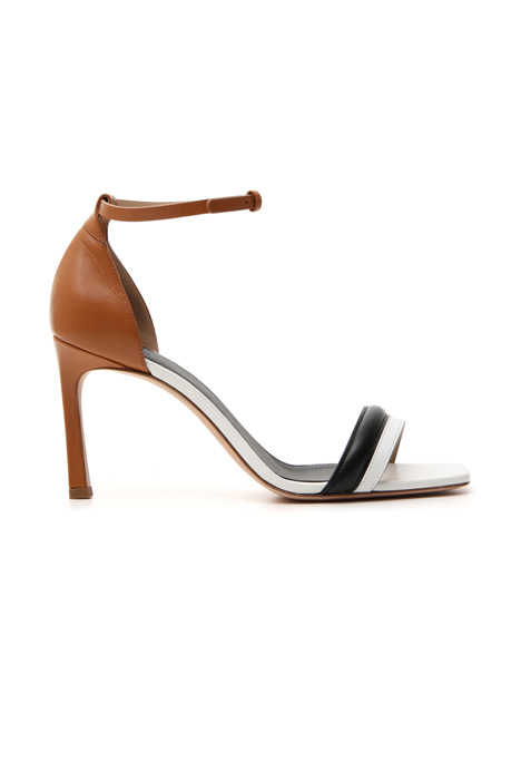 Pure leather high sandal    Intrend