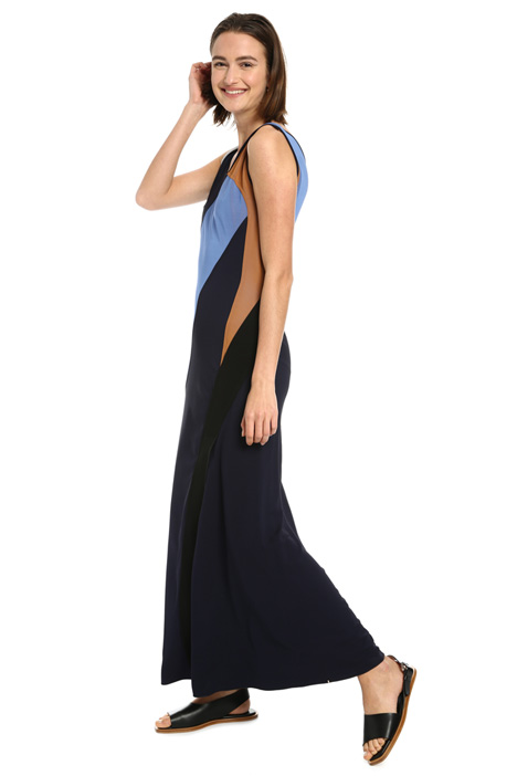 Long crepe viscose dress Intrend