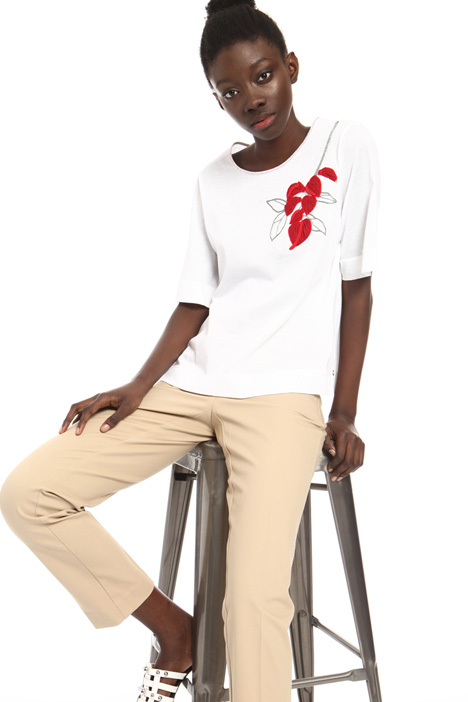 T-shirt with placed pattern Intrend