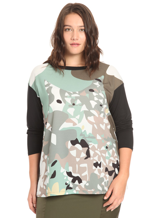 Jersey and viscose sweater Intrend