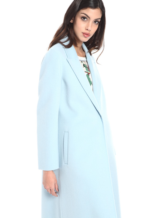 Peaked lapel wool coat Intrend