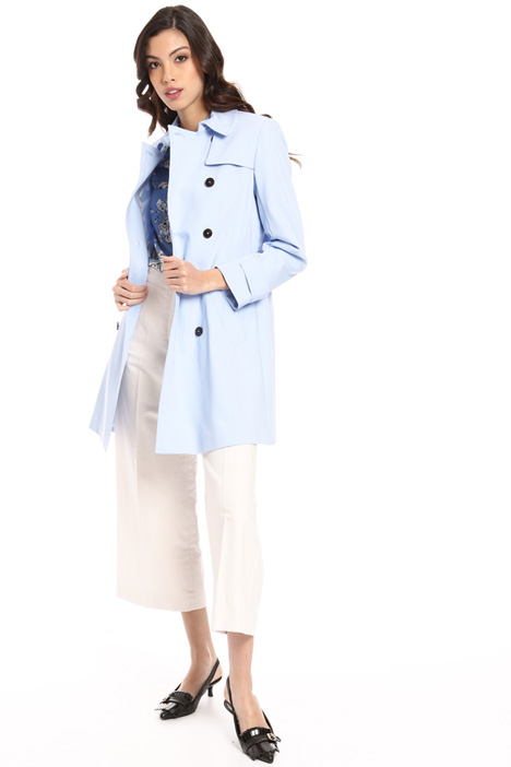 Double-breasted cotton trench Intrend
