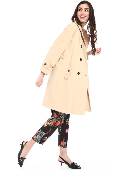 Stretch cotton trench Intrend