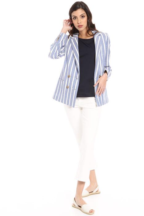 Striped linen blend blazer Intrend