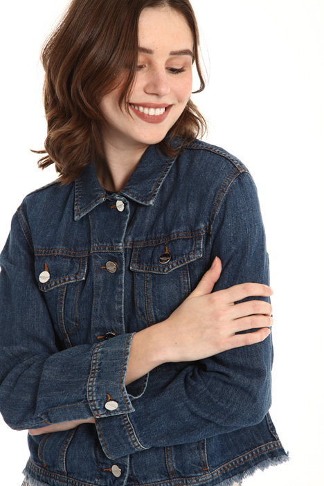 Fringed edge denim jacket Intrend
