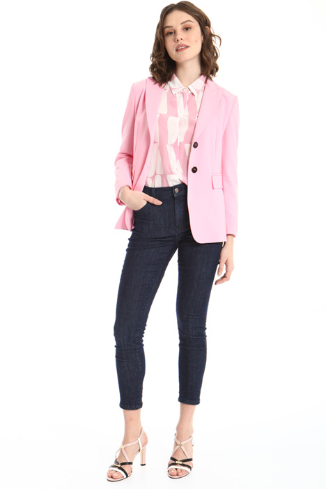 Blazer in cotone stretch Intrend