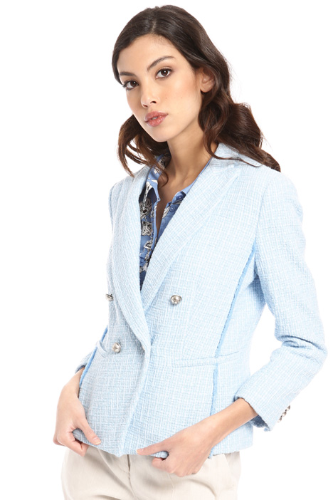 Metal button blazer Intrend