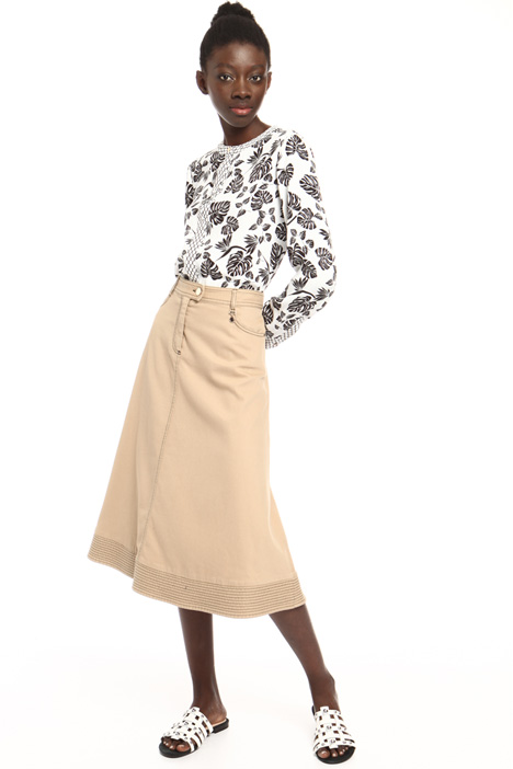 Stretch cotton skirt Intrend