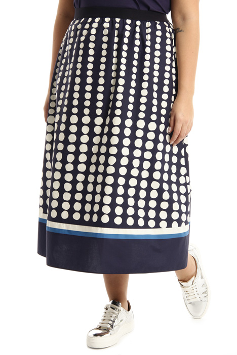 Printed cotton skirt Intrend