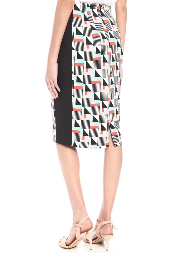 Printed sheath skirt Intrend