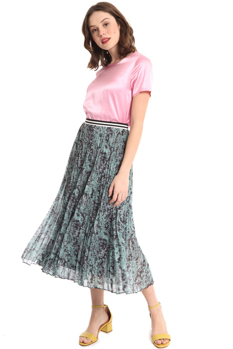Pleated chiffon skirt Intrend