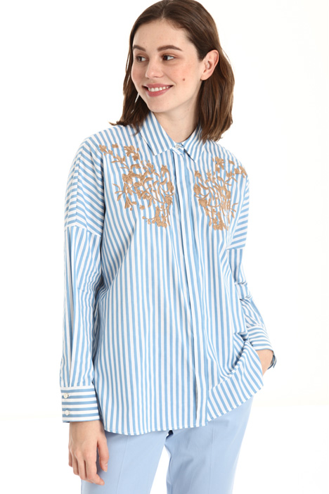 Embroidered stripe shirt Intrend