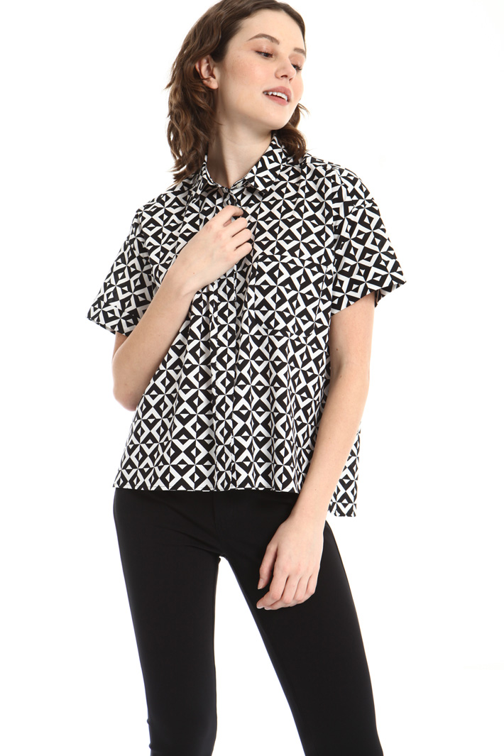 Pure cotton short sleeve shirt Intrend