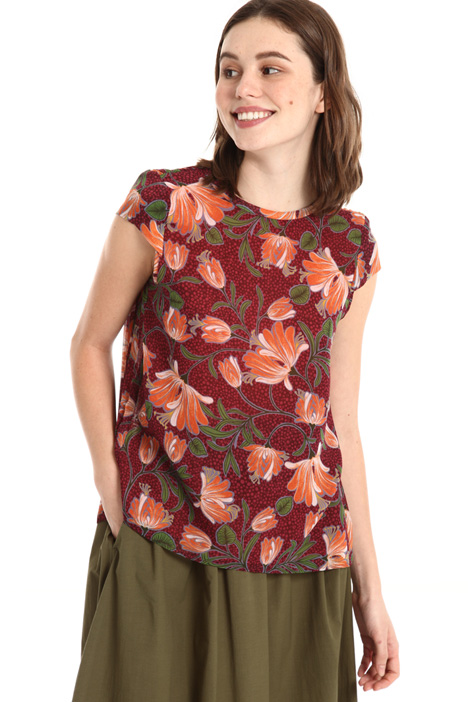 Pleated back top Intrend