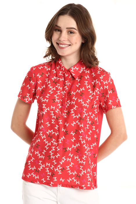 Crepe jersey polo shirt Intrend