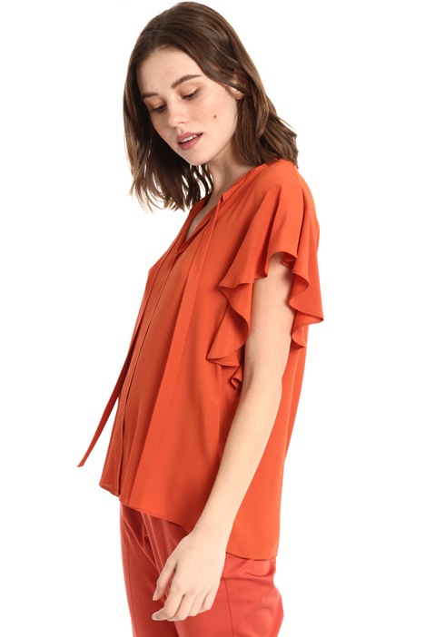 Ruffled sleeve top Intrend