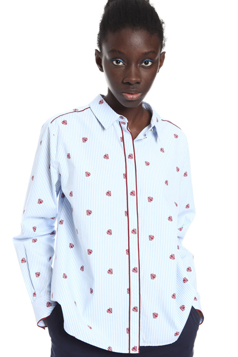 Patterned poplin shirt Intrend
