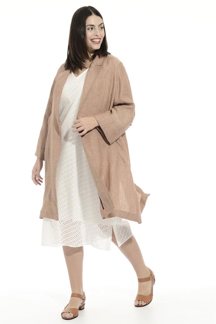 Pure linen duster coat Intrend