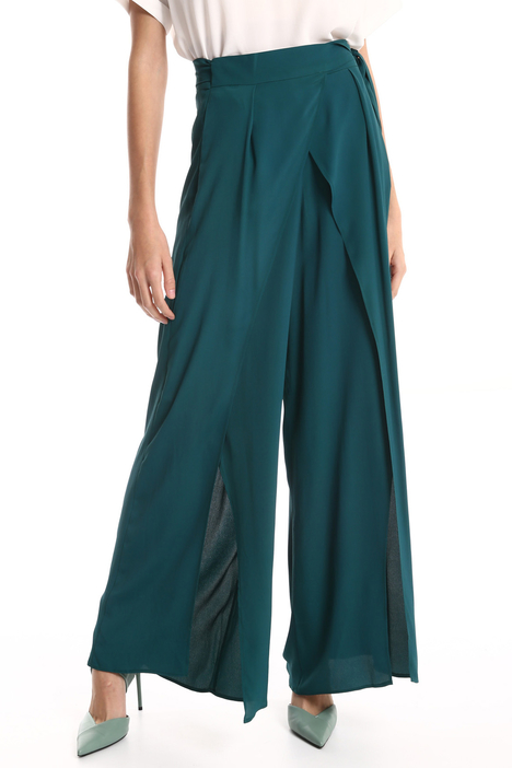 Overlay silk blend trousers Intrend