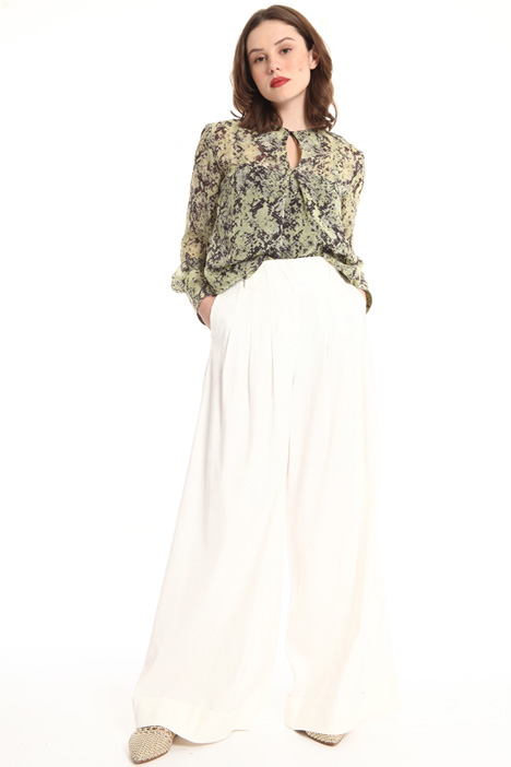 Wide leg linen trousers Intrend