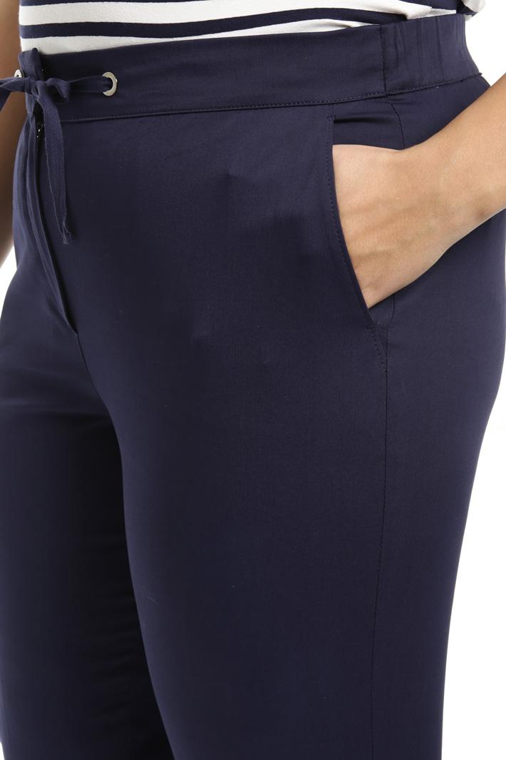 Gabardine cotton trousers Intrend