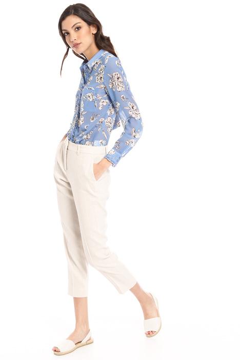 Linen blend cigarette trousers Intrend