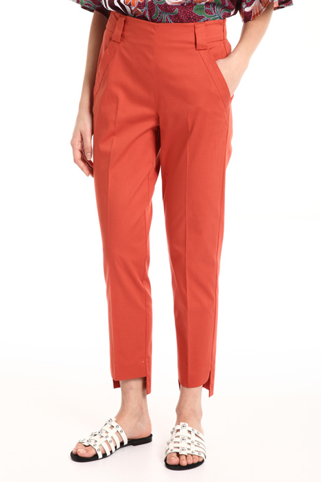 Cotton satin cigarette pants Intrend