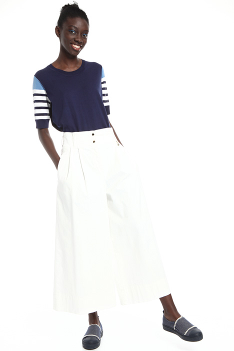 Cotton satin palazzo trousers Intrend