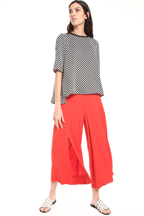 Slit twill trousers Intrend