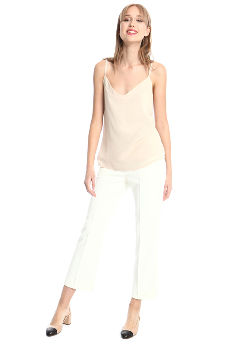 Pantaloni in crepe satin Intrend