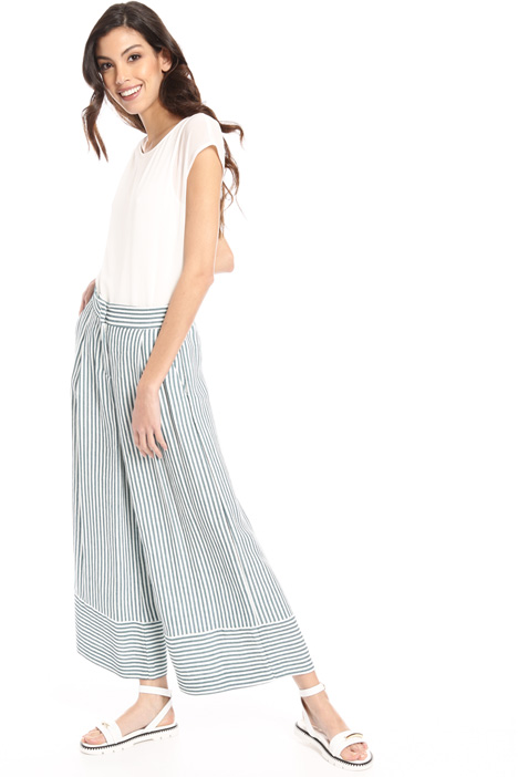 Loose fit linen blend trousers Intrend