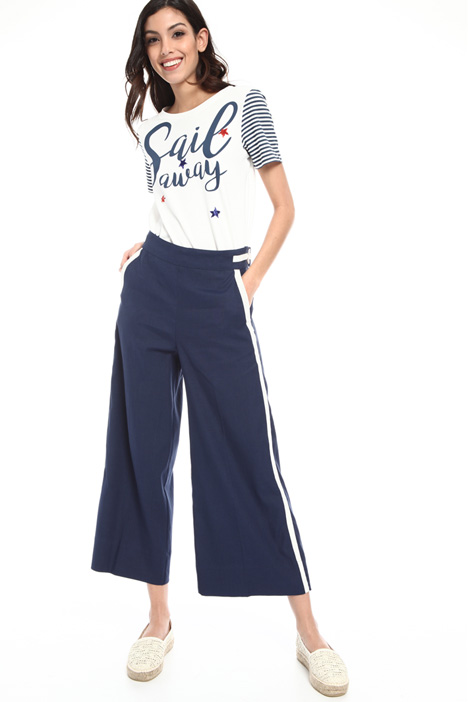 Wide leg linen blend trousers Intrend